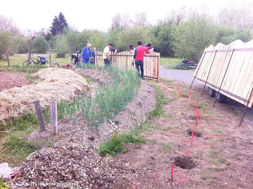 installation clôture, aménagement paysager