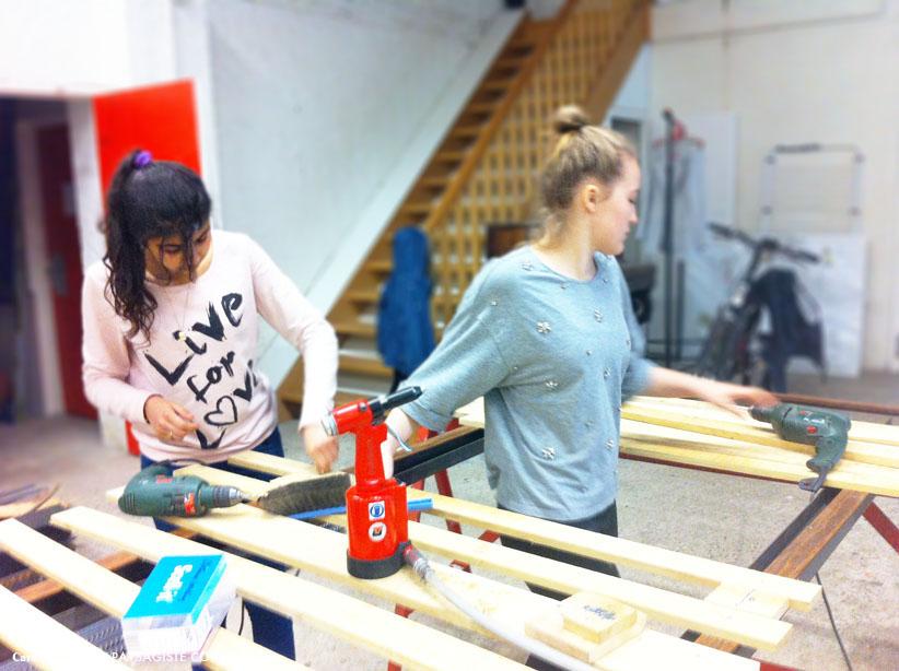 conception clôture en atelier jeune