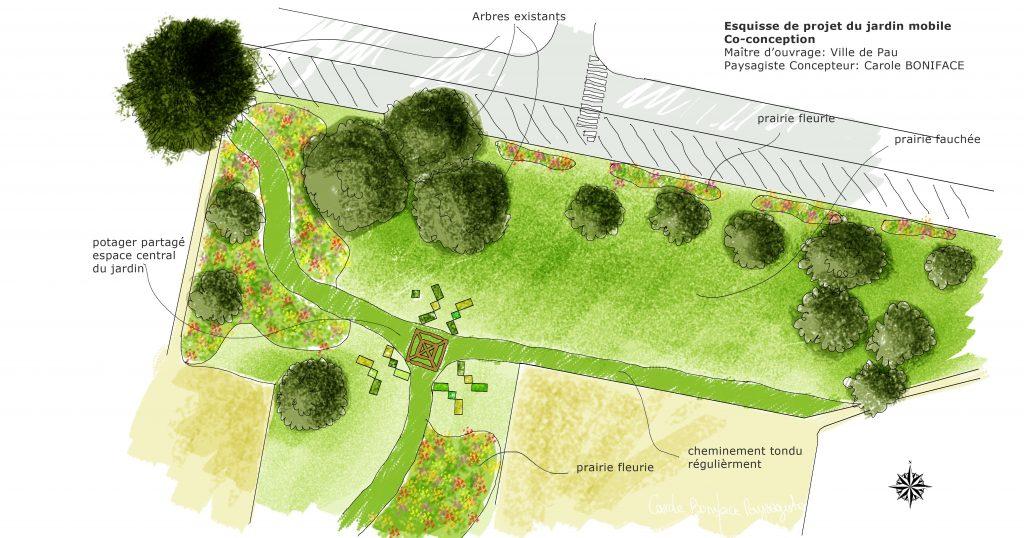 jardin mobile Pau